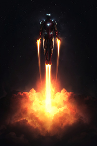 320x480 4k Iron Man Take Flight