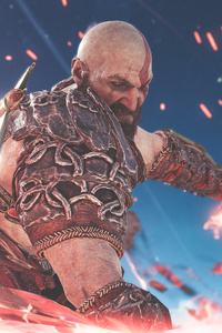 540x960 4k Kratos God Of War 4