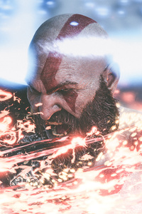 540x960 4k Kratos God Of War 4 Game