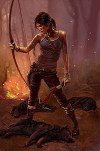 1280x2120 4k Lara Croft Tomb Raider