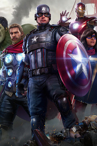 750x1334 4k Marvels Avengers 2020