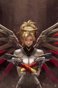 4k Mercy Overwatch Art