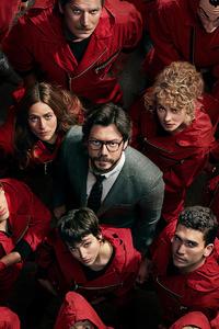 1440x2960 4k Money Heist Season 4 Netflix