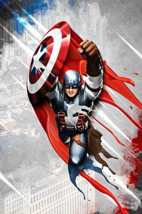 800x1280 4k New Captain America