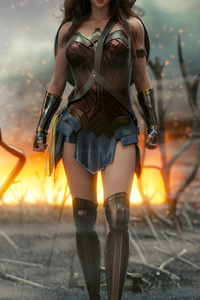 540x960 4k New Wonder Woman