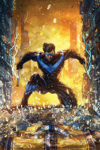 640x1136 4k Nightwing Artwork
