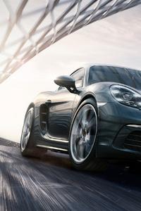 1080x2160 4k Porsche Cayman S