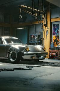 640x960 4k Porsche Cyberpunk 2077