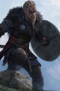1242x2688 4k Ragnar Lothbrok Assassins Creed Valhalla