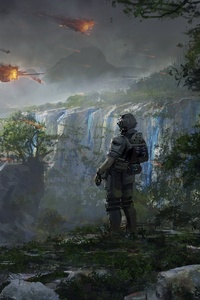360x640 4k Soldier Titanfall 2 Artwork