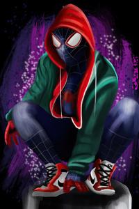 640x1136 4k Spider Man Miles