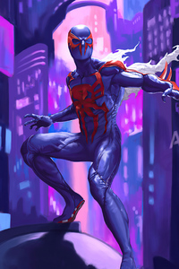 320x568 4k Spiderman 2099