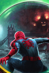 4k Spiderman Farfrom Home Art
