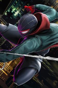 240x400 4k Spiderman Miles
