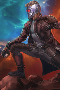 540x960 4k Star Lord Art