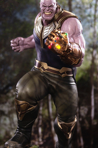 1125x2436 4k Thanos Infinity Gauntlet