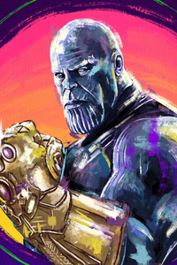 540x960 4k Thanos Sketch Artwork