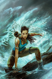 320x568 4k Tomb Raider Art