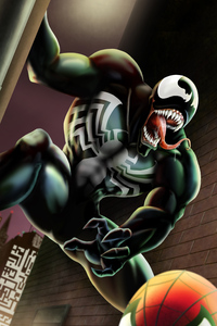 4k Venom Comic Art
