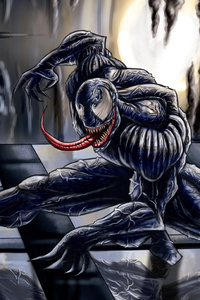 1080x2280 4k Venom New Artwork