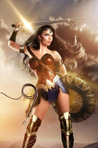 1125x2436 4k Wonder Woman 2020 Cosplay