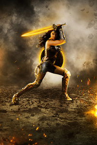 480x854 4k Wonder Woman 2020 New Artwork