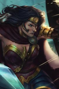 1242x2688 4k Wonder Woman Fanart