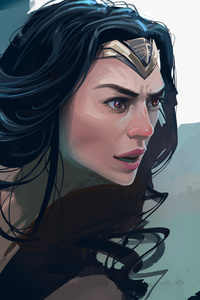 800x1280 4k Wonder Woman New Paint Artwork