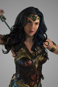 540x960 4k Wonder Woman Paint Art