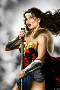 4k Wonder Woman Paint Artwork