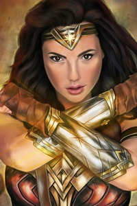 4kwonder Woman Paint Art