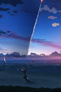 1280x2120 5 Centimeters Per Second Anime Tv Series