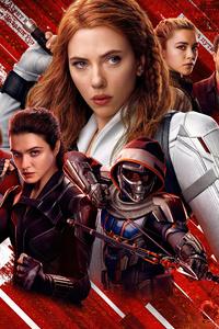 1080x1920 5k Black Widow Poster