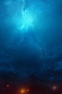 240x400 5k Nebula Digital Universe