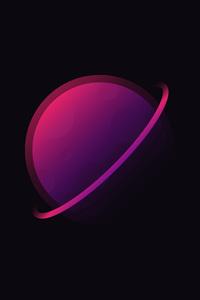 1280x2120 5k Planet Minimalist