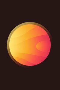 720x1280 5k Sun Planet Minimalist