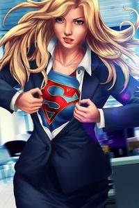 2160x3840 5k Supergirl