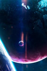 1125x2436 70s Disco Planets