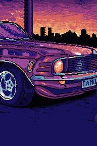 1125x2436 8 Bit Mustang