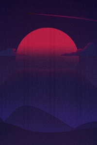 720x1280 8 Bit Sunrise Mountains Artwork 4k