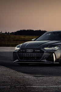 1080x2280 8k Black Box Richter Audi RS 7 Sportback 2020
