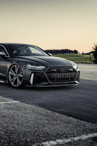 1280x2120 8k Black Box Richter Audi RS 7 Sportback