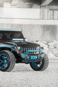 1440x2960 8k Jeep Wrangler Blue Grey
