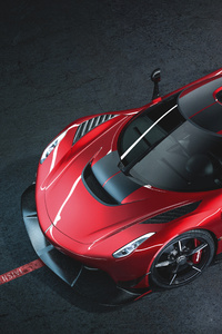 480x800 8k Koenigsegg Jesko Cherry Red Edition 10