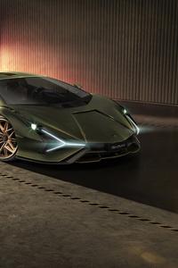 320x568 8k Lamborghini Sian 2019