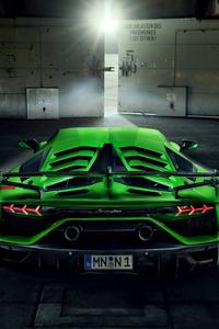 750x1334 8k Novitec Lamborghini Aventador SVJ 2019 Rear View
