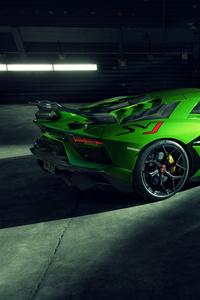 1440x2960 8k Novitec Lamborghini Aventador SVJ 2019 Rear