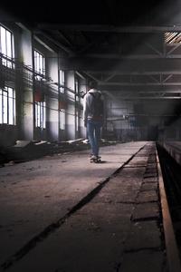 640x1136 Abandoned Skater Boy
