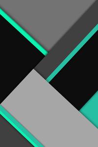 Absract Black Green 8k