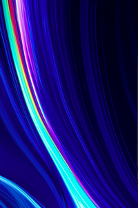 1242x2688 Abstract Blue Led 4k